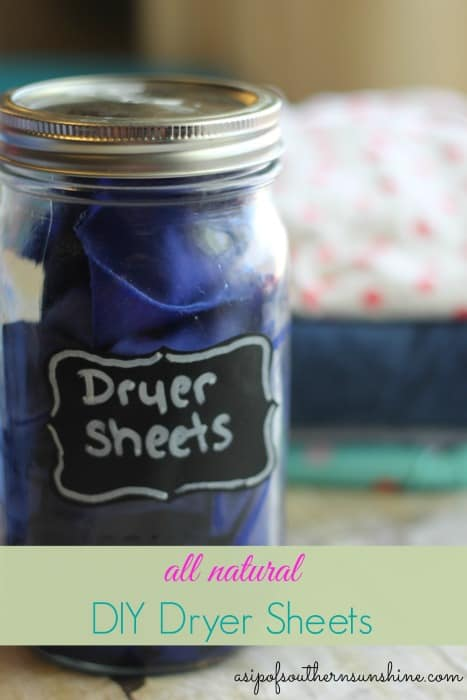 diy Homemade dryer sheets