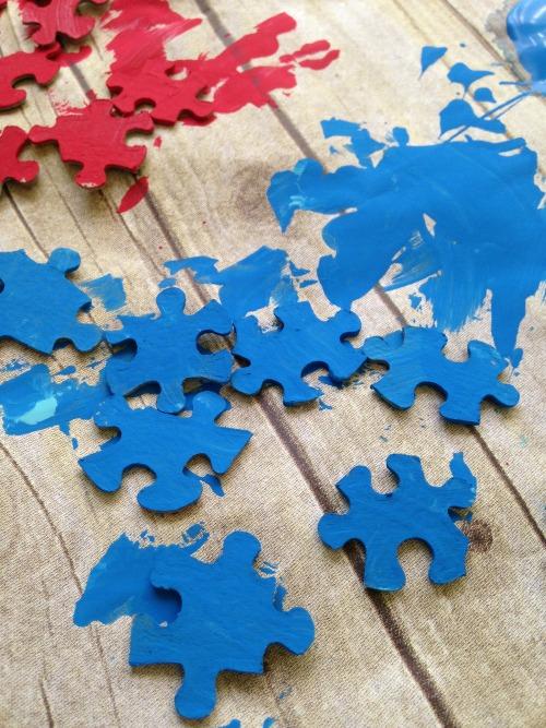 Autism Awareness Heart Craft