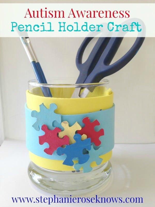 Autism Awareness Pencil Holder
