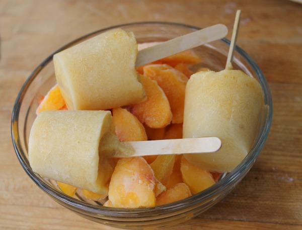 No Sugar Added Low Calorie Peach Pops