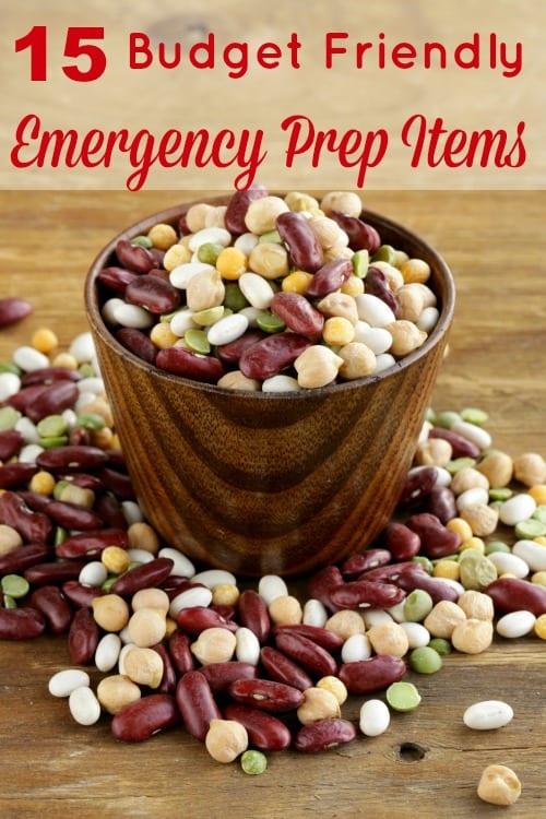 Budget Friendly Emergency Prep Items