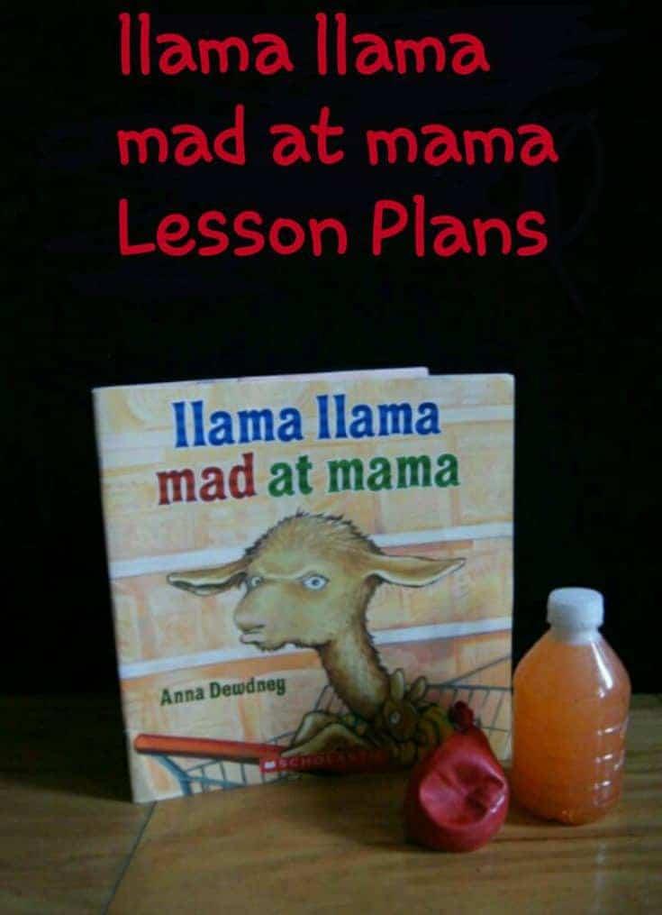 llama llama mad at mama Unit Study