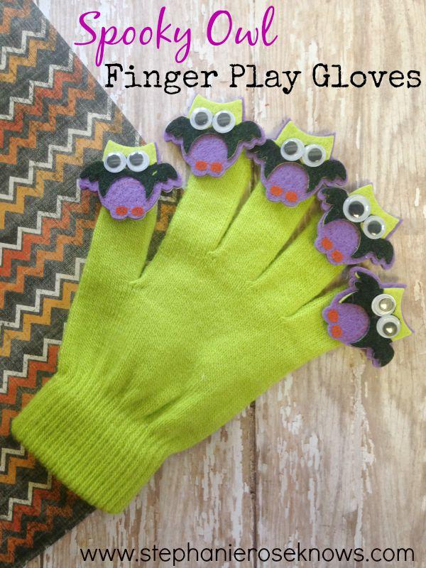 Spooky Owl Finger Play Gloves