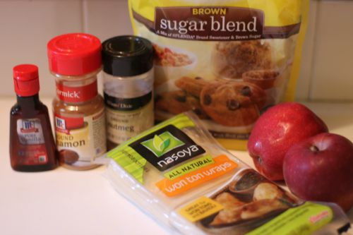 Apple Pie wonton Ingredients
