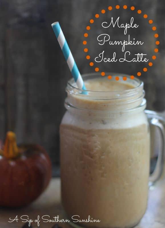 pumpkin spice latte iced