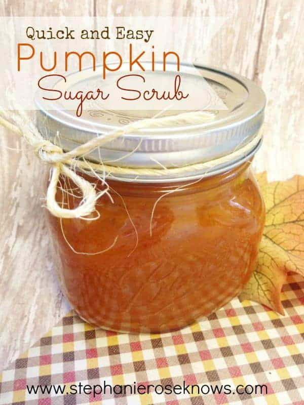 Quick and Easy Pumpkin Sugar Scrub