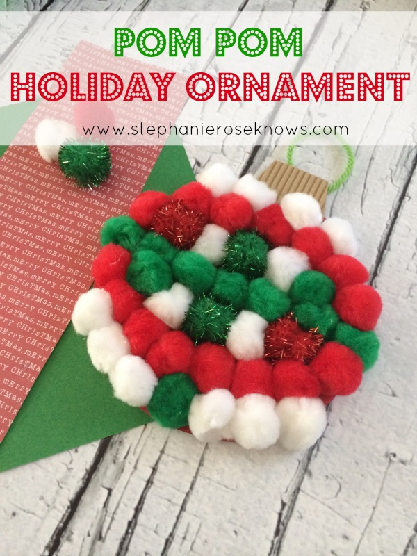 Homemade Pom Pom Christmas Ornament
