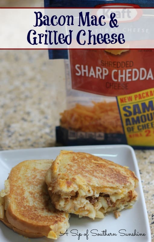 bacon mac grilled cheese