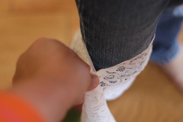 lace diy boot cuff