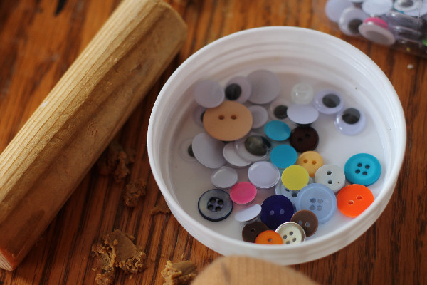 buttons for homemade gingerbread playdough