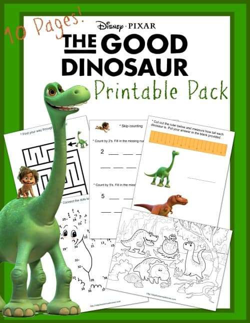 The Good Dinosaur Unit Study Printables