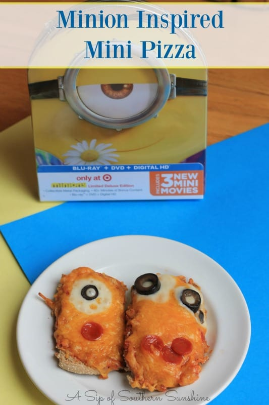 minion movie mini pizza