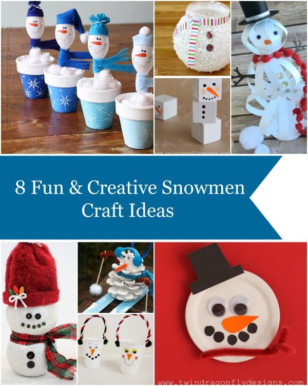 Snowman Craft Ideas are perfect for those long cold and snowy days indoors this winter!  Check out our favorites to stay busy this winter!