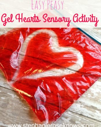 Easy Gel Hearts Sensory Activity