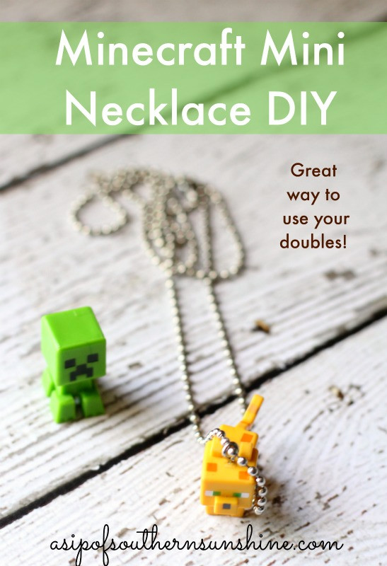 DIY minecraft necklace
