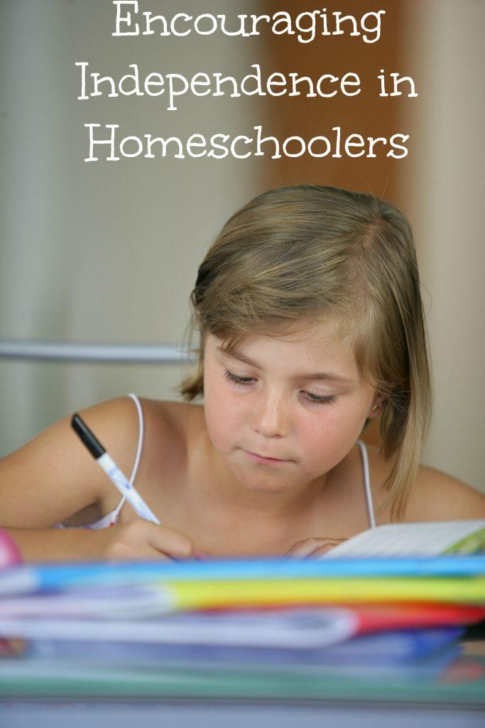 Encouraging independence in homeschoolers