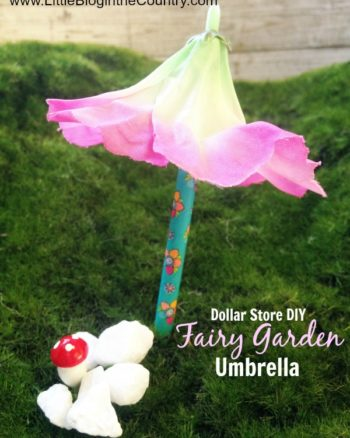 How to Make a Fairy Garden Umbrella