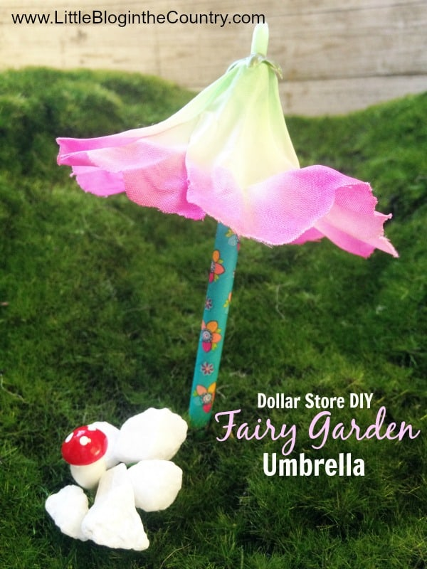 DIY Fairy Garden Umbrella