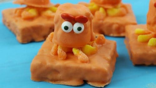 Finding Dory Birthday Party food Hank the Septopus Rice Krispies Treats