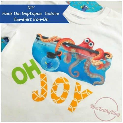 Finding Dory's Hank the Septopus DIY Toddler Tee-shirt Iron-On