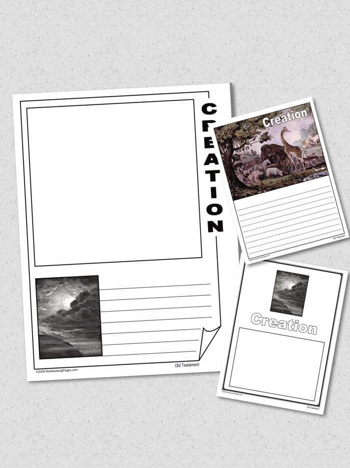 creation notebooking pages