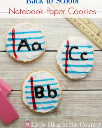 Back to School Homemade Sugar Cookie Recipe