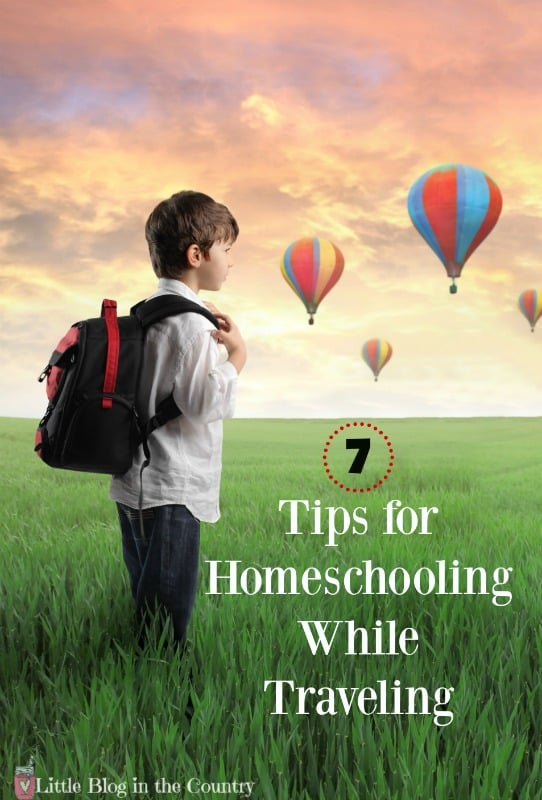 tips for homeschooling while traveling