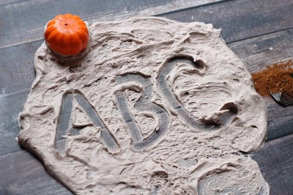 pumpkin spice sensory play abc