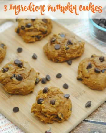 3 ingredient pumpkin cake mix cookies