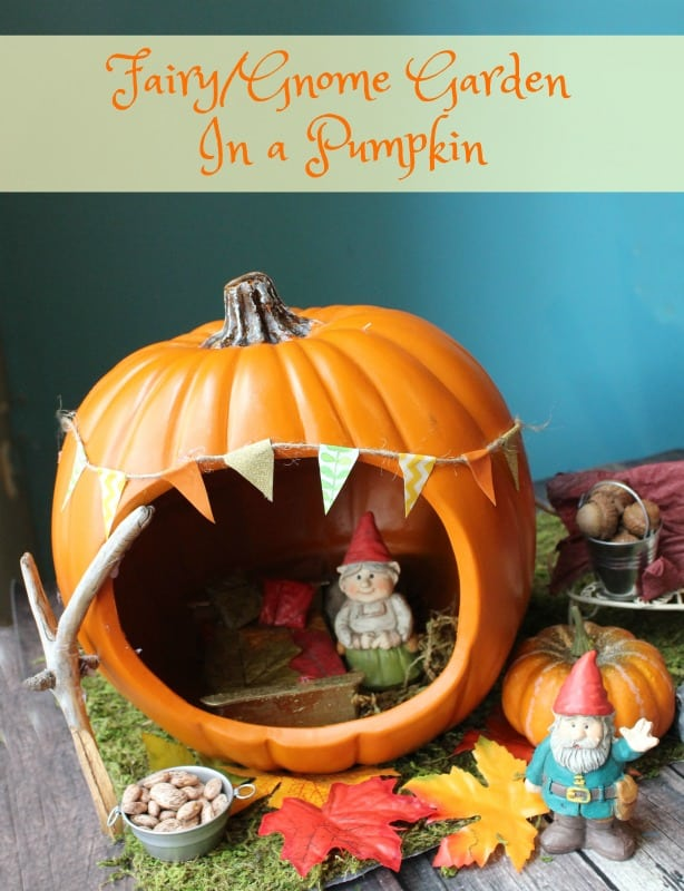Fairy or Gnome Garden in a Pumpkin