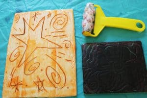 kids art printmaking