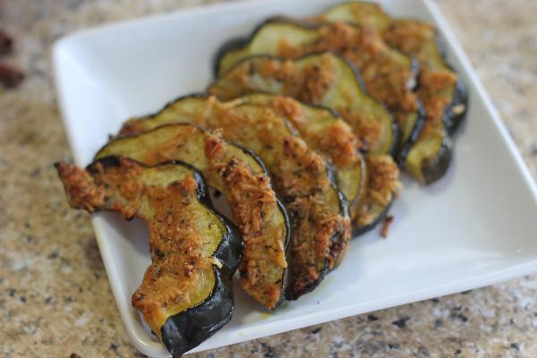 parmesan crusted acorn squash side