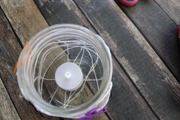 spider web candle holder light