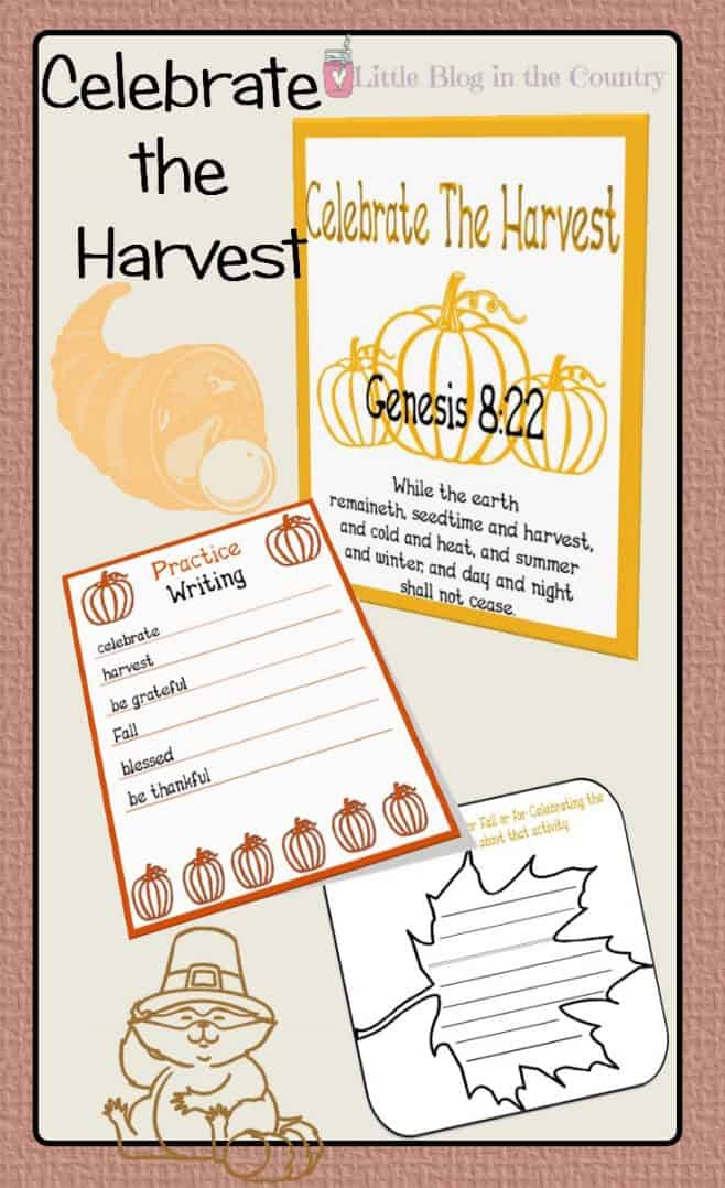 Celebrating the Harvest Unit Study