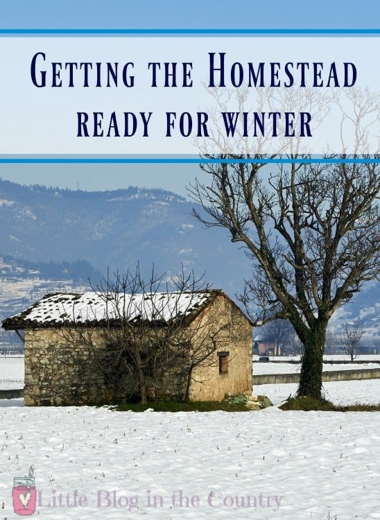 Homestead ready for winter