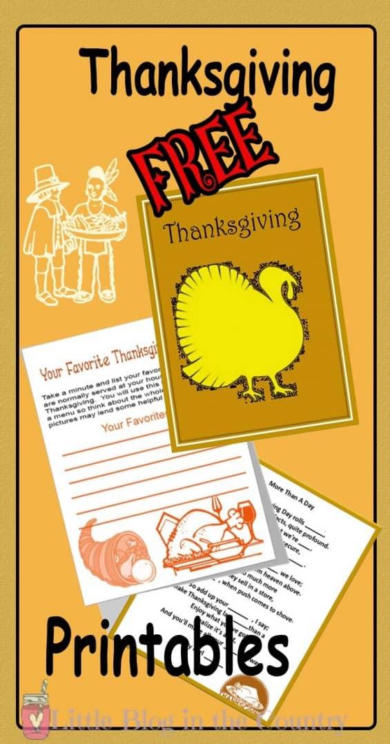 Thanksgiving printable Unit Study