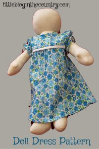 how to make doll dress easy