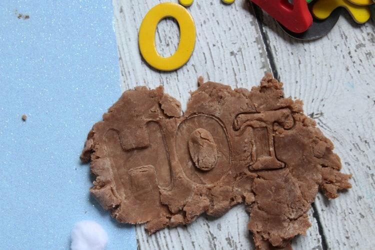 homemade hot chocolate playdough