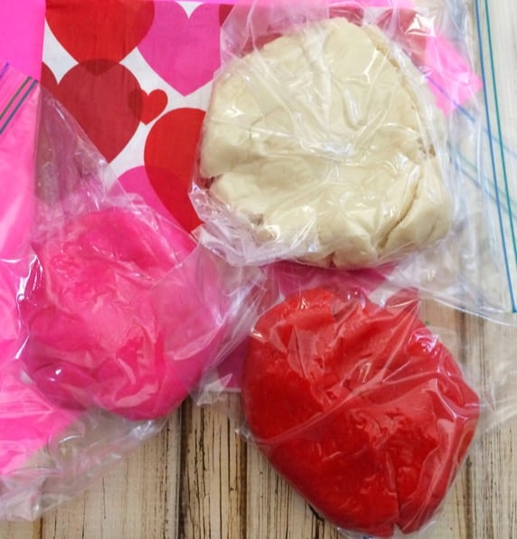 Valentine's Day sensory Playdough