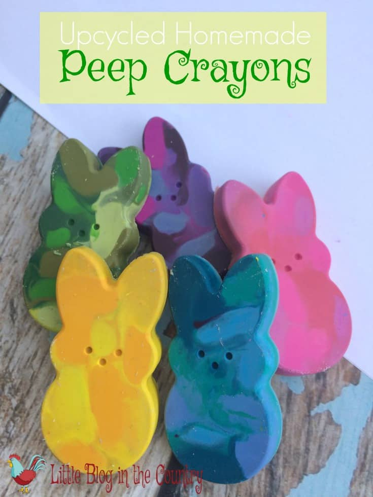 Homemade Peep Crayons Easter Craft