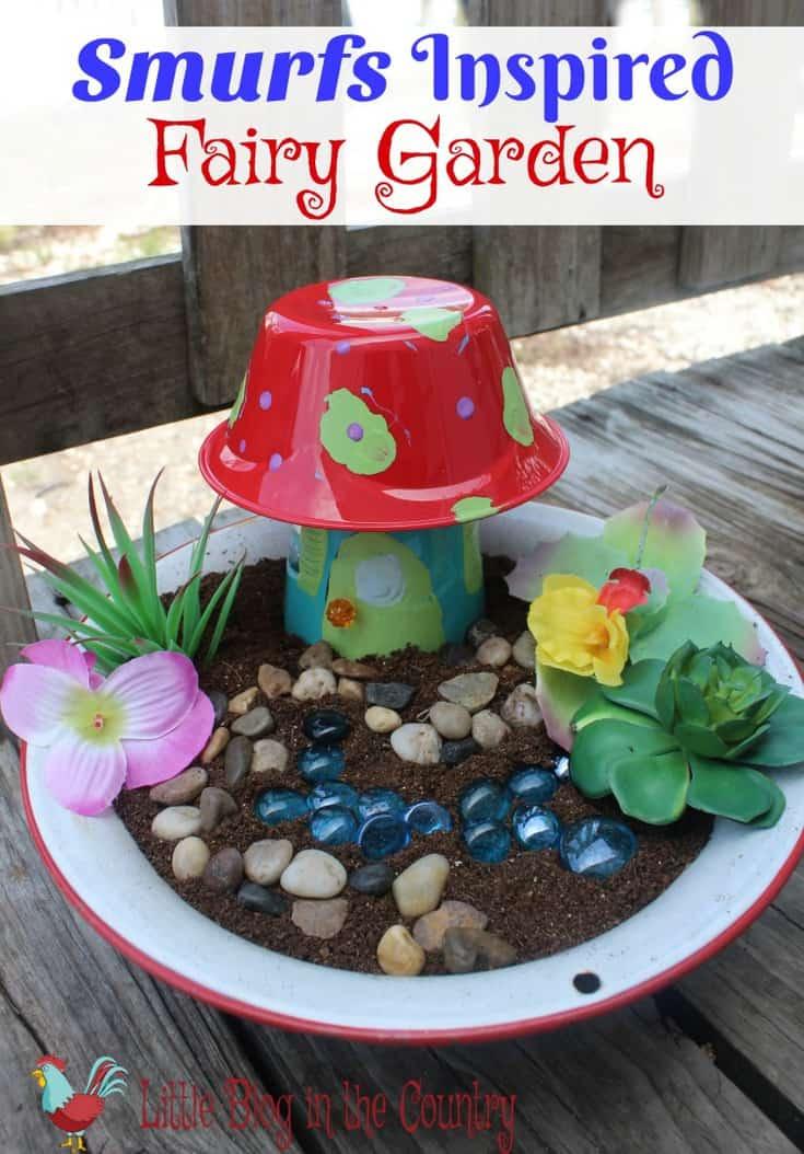 Smurfs Fairy Garden Craft