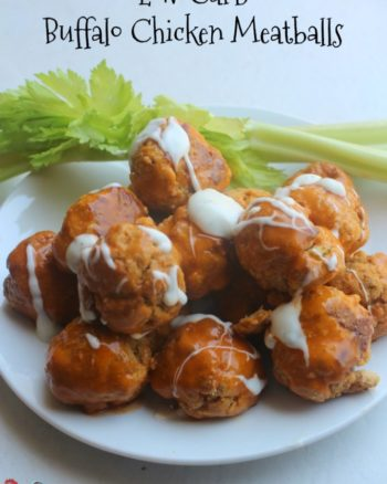 Low Carb Buffalo Chicken Meatballs