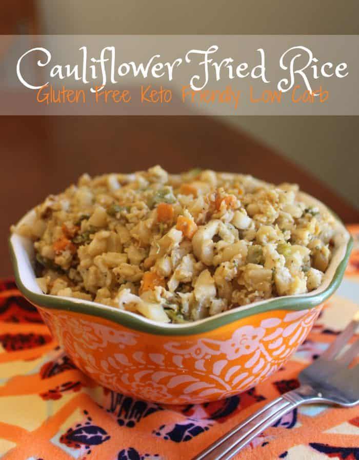 Homemade Cauliflower Fried Rice in a bowl