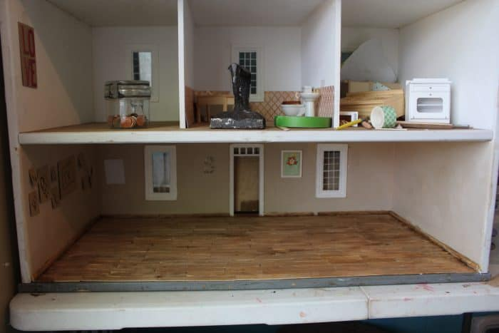 dollhouse with a popsicle stick floor