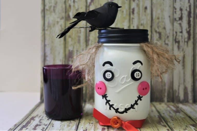 Scarecrow Mason Jar Craft