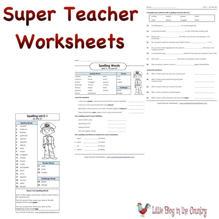 Super Teacher Worksheets For Homeschool Hsreviews