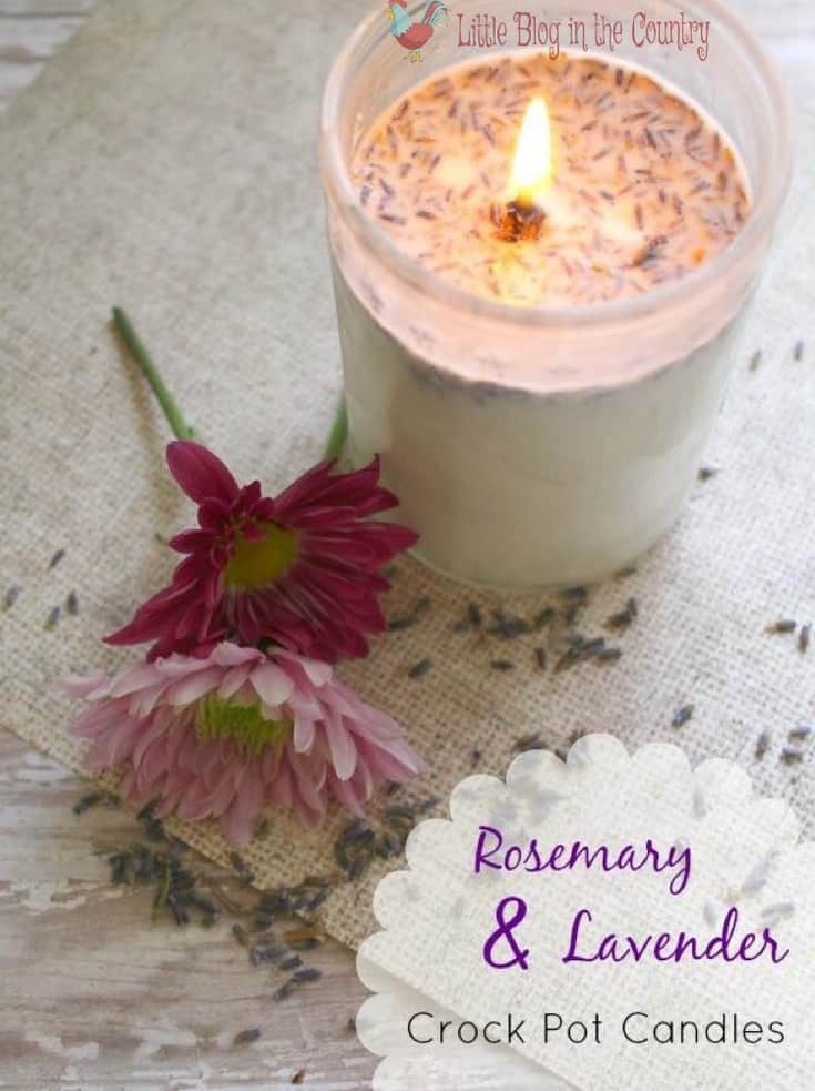 Easy diy Crockpot candles