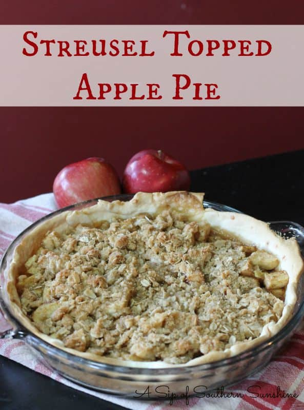 Homemade Apple Pie with a Streusel Topping