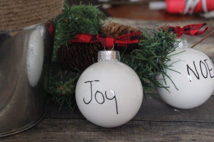 Farmhouse Style Christmas Ornaments