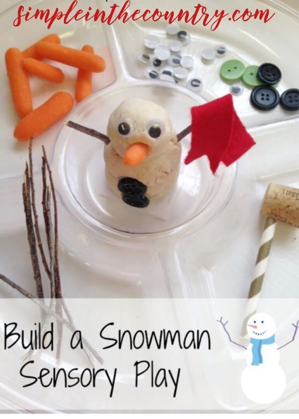 Build a snowman Playdough activity center